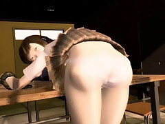 Hentai 3D chick raw tentacle banged