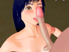 Hentai 3D chick violated by a huge dick