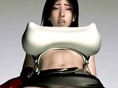Big tittied hentai 3D Tifa getting her main hole probed and stretched