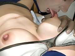 Sensual 3D hentai college fondled and banged