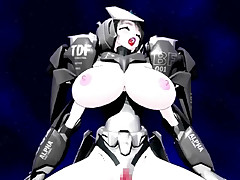 Sexy 3D hentai space beauty with huge boobs