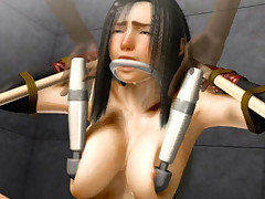 Hentai 3D sex thrall gets all her holes banged by dominant
