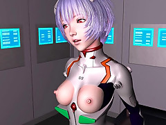 Hentai 3D babe in constricted fitting spacesuit gets banged from behind
