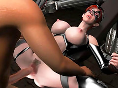 Restrained 3D carroty getting groped and face banged coarse