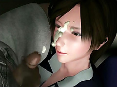 Asian train sex 3D animation