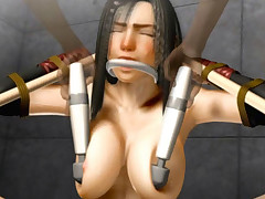 Sexy 3D hentai gal banged in restraints